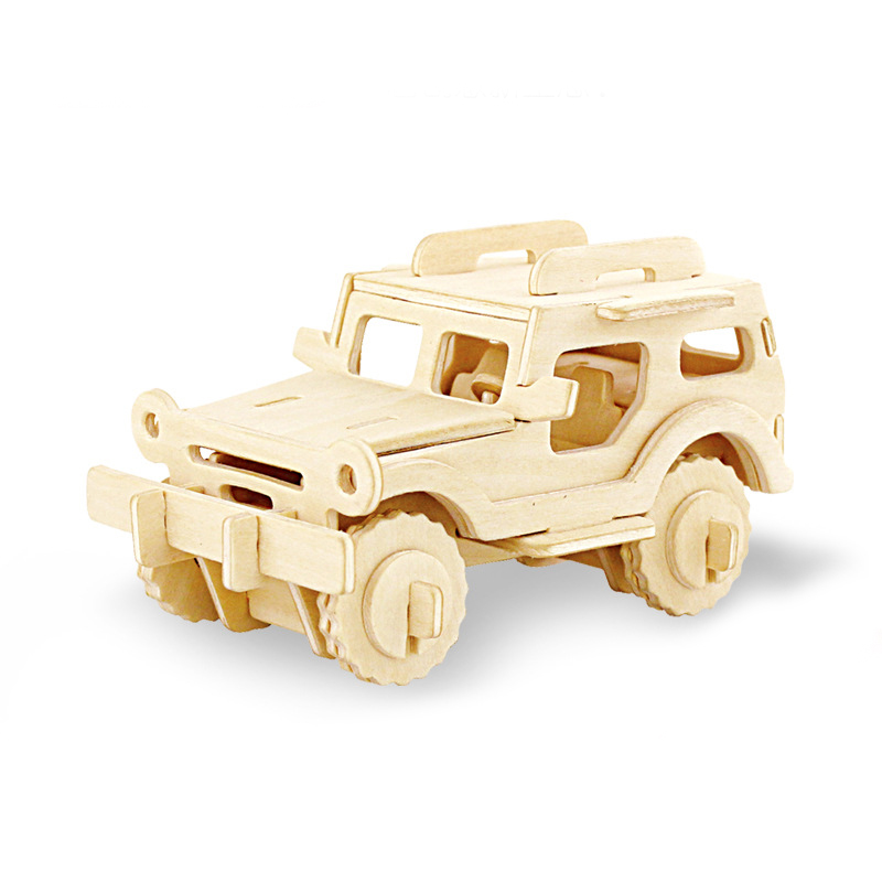 3D DIY Wood Puzzle Toy Military Series Tank Vehicle Model Set Creative Assembled Education Puzzle Toys Gifts For Children Kids 2
