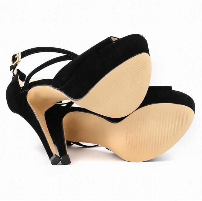 1ea766bf Verano 2017 moda Sandalias Zapatos estilo mujer novia Cruz correas Super  alto tacones