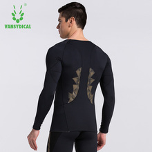 Mens sport long sleeve basketball soccer training shirt base stretch quick dry fitness gym clothes compression shirt runnning