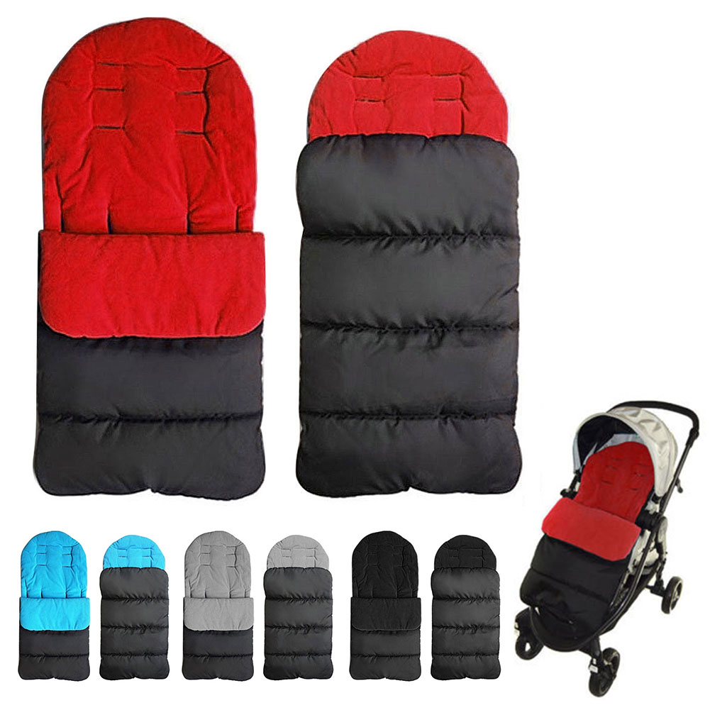 Yoyaplus Baby Stroller Footmuff Sleeping Bag Double Layers Polar Fleece Pram Foof Cover Sack Carriage Warm Winter Carseat Non-Ironing Strollers Accessories