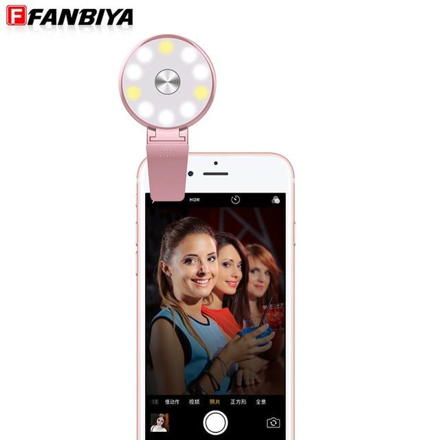 Wonderful FANBIYA LED Selfie Flash Fill Light For Iphone 7 7plus 6 Universal Luminous Lamp  Phone Ring Nice Ideas