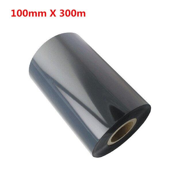 100*300 Termal Transfer Balmumu Şerit 100mm * 300 m Etiket Barkod Yazıcı Balmumu Şeritleri Siyah Mürekkep şeritler 100mm X 300 m Şerit
