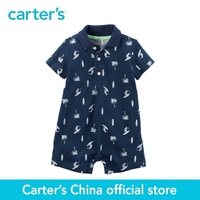 Carter's 1pcs baby children kids Pique Polo Romper 118H023, sold by Carter's China official store