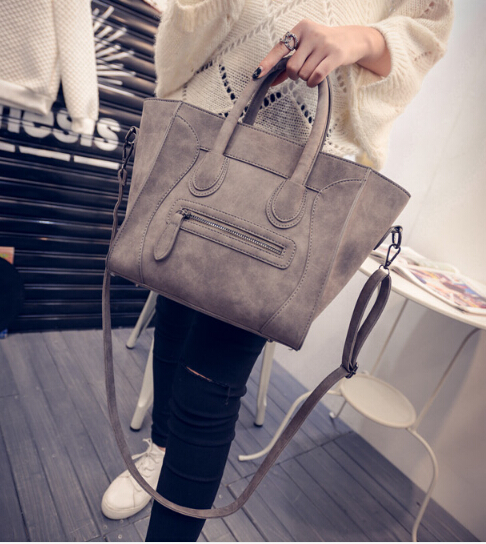 Simple classic euramerican style girl's big bag PU leather women cross body shoulder bag women's vintag handbag j5985