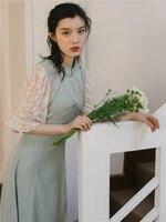 2019 new fashion women's dresses Retro summer dress Chinese style