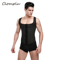 Clomplu Slimming Shaper Latex abdomen Belly Control Steel Bone Corset Black Body Shaper S 6XL Waist Trainer Compression Tops