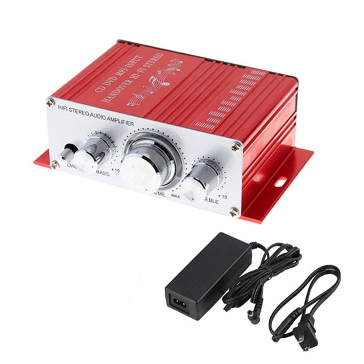 Mini Hi-Fi Stereo Amplifier Audio HY-2001 for Motorcycle Auto Car Home Audio Amplifiers Stereo Sound with USB/MP3/FM/DVD/SD