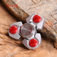 YIJIE Finger Spinner Triangle Gyro Fidget Spinner Metal EDC Hand Finger Spinner For Autism ADHD Anxiety
