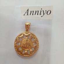 Allah necklace pendant Islam Jewelry arab mohammed gold color,Muslim Middle Eastern