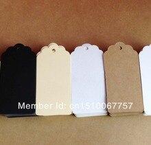 × 卸売ブランククラフトハングタグサイズ: 1色 1000ロゴコスト余分$50