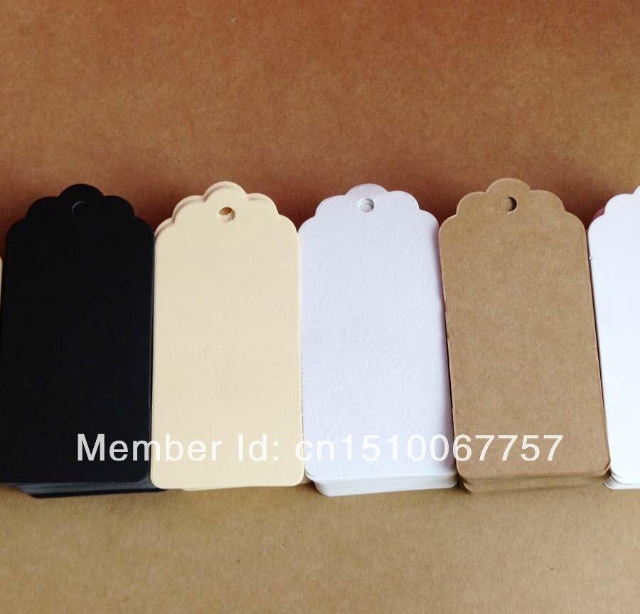 ₩Venta al por mayor en blanco Kraft etiqueta colgante tamaño: 4.5x9 ...