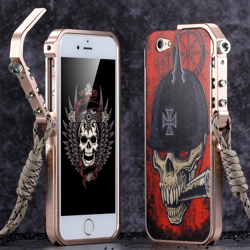 on sale 6654f 420b9 US $19.99 |Outdoor Aluminum Trigger Mechanical Arm Bumper Phone Case for  iPhone 6 6s Case Metal Border Relief Back Cover for iPhone 6s plus-in Phone  ...