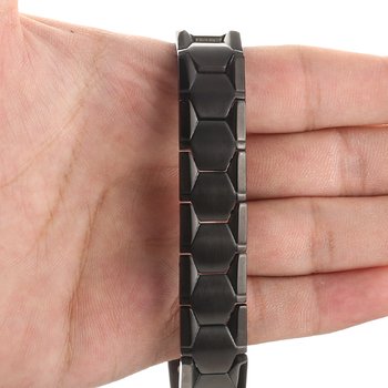 LITTLE FROG Health Magnetic Therapy Bracelet Men Jewelry Black 4