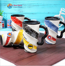 Captain America Batman Superman Spider-man  Avengers High-capacity Ceramic Mug With Handle Cover