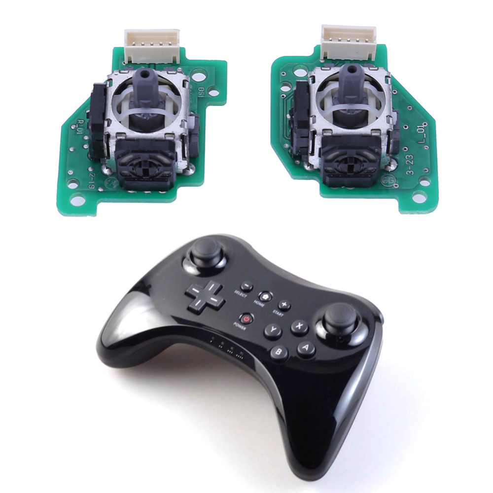 1/5 Sets ABS + iron3 Replacement Left Right 3D Analog Joystick for Nintendo WII U Gamepad Controller Control Gaming Direction