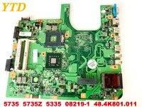 원래 ACER 5735 5735Z 5335 노트북 마더 보드 5735 5735Z 5335 08219-1 48.4K801.011 좋은 무료 배송 테스트