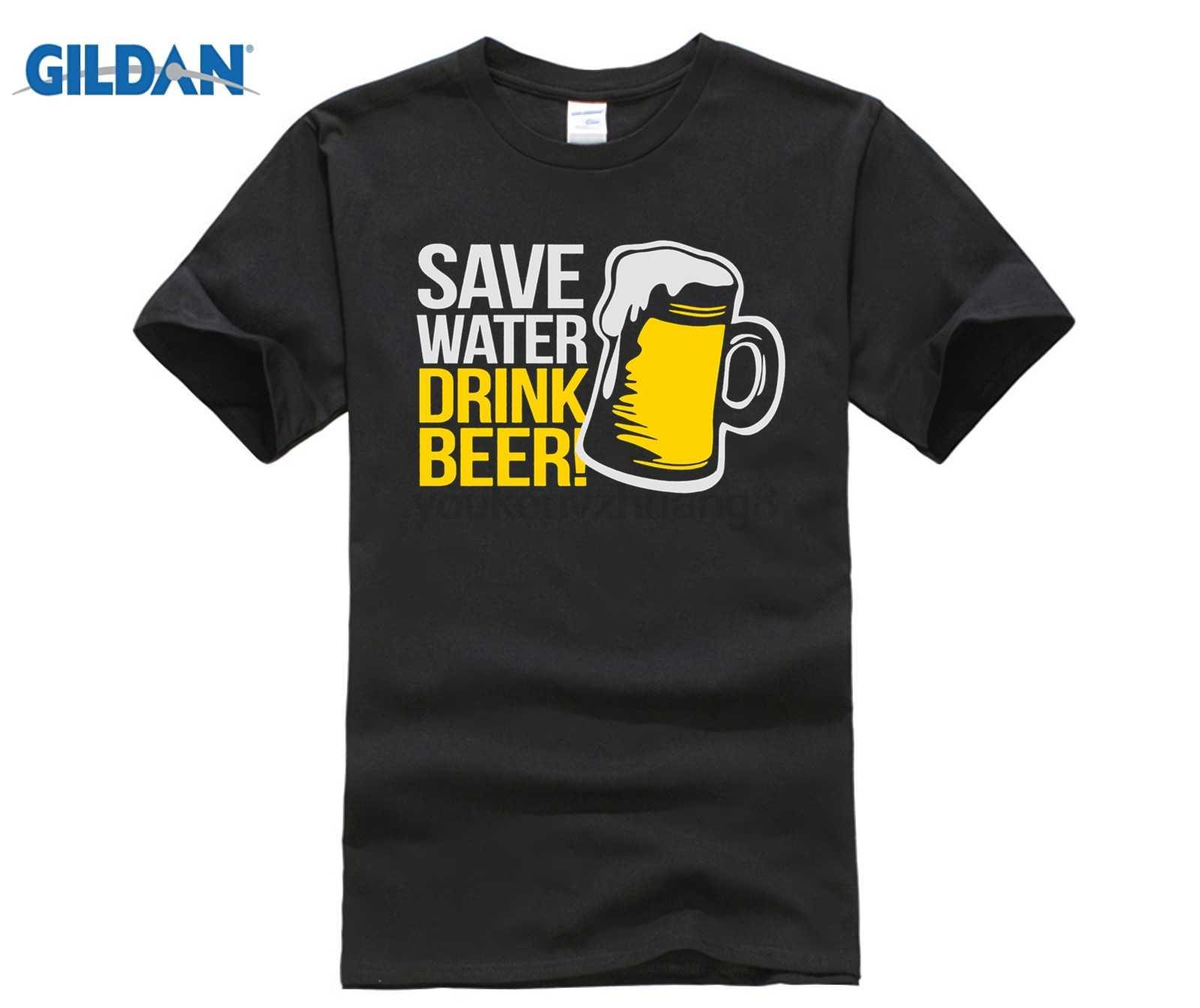 4cf826a1 HOT deals Tee Shirt Homme JUST BREAK IT Men T-Shirt Classical Save Water  Drink