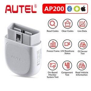 Image 1 - 하나의 무료 차량 소프트웨어로 모든 시스템 진단과 오리지널 Autel Maxi AP200 obd2 스캐너 블루투스 어댑터