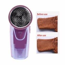 Ropa eléctrica portátil removedor de pelusas suéter sustancias máquina afeitadora quitar Pellets compacto 2 baterías removedor de pelusas