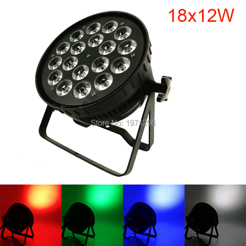 18x12W RGBW 4IN1 LED Par Light DMX Control DJ Disco Equipment Quad Lamp Par Can Home Party Lights Stage Effect Beam Lighting 2xlot 2016 led par can 7x10w rgbw 4in1 quad color mini par led dmx dj disco stage lights 70w moving head strobe effect projector