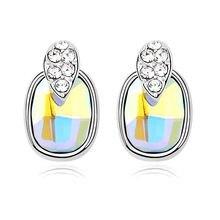 Бренд anngill модные трендовые серьги гвоздики с кристаллами