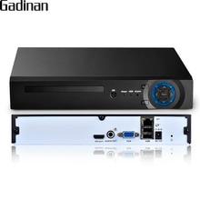 GADINAN 16 ערוץ 5MP CCTV NVR Hi3536D XMEYE H.265 P2P HDMI VGA פלט P2P רשת אבטחת CCTV וידאו מקליט תמיכה 3 גרם WIFI