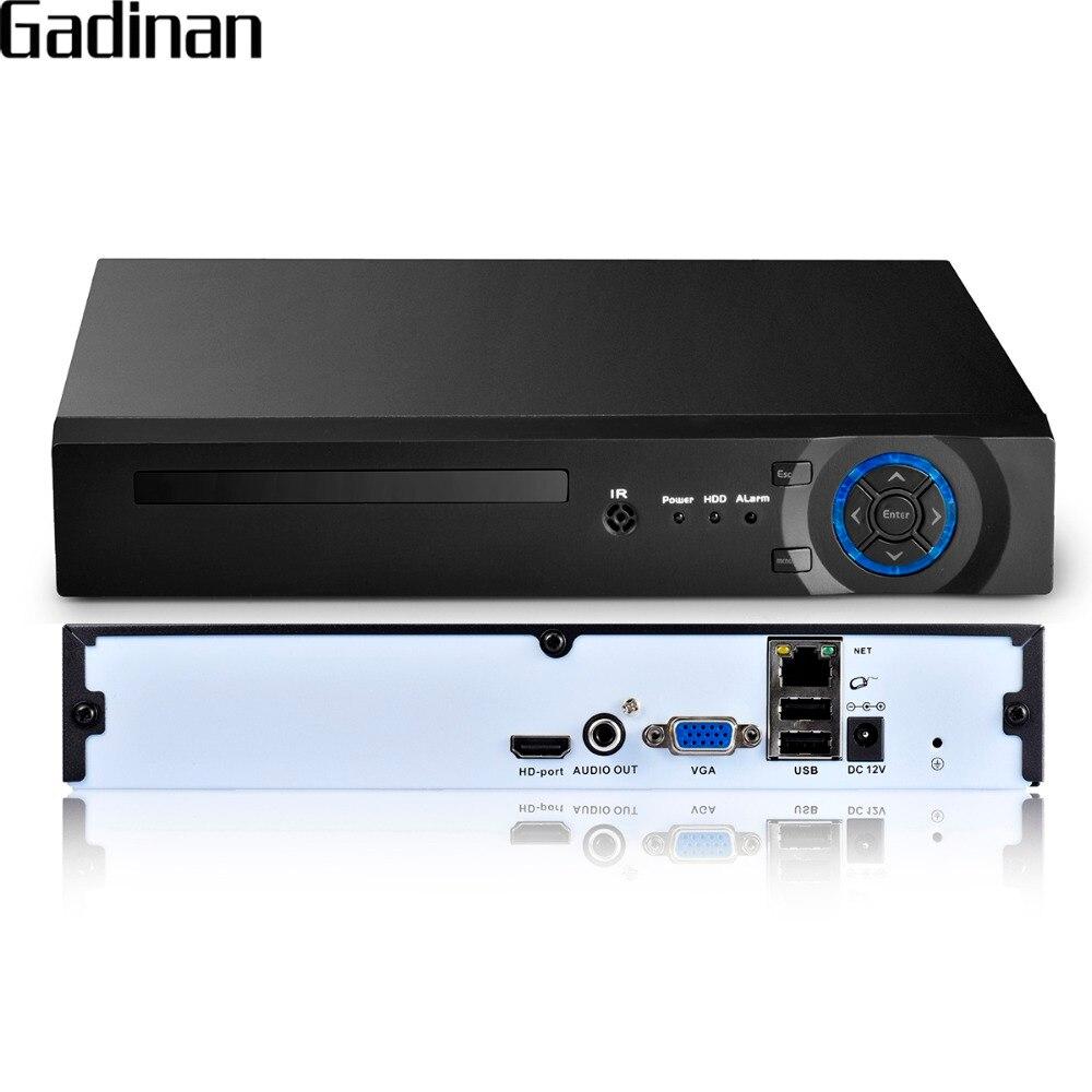 GADINAN 16 Canal 5MP CCTV NVR Hi3536D XMEYE H.265 P2P HDMI Sortie VGA P2P Réseau de Sécurité CCTV Vidéo Enregistreur Soutien 3G WIFI