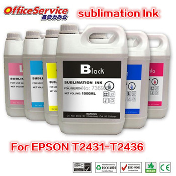 6X1000ML T2431 T2421 24XL Sublimation Ink specialized For Epson EXPRESSION PHOTO XP-55 750 760 850 860 950 Printer