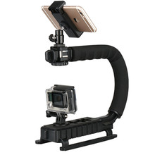 U-Grip Triple Shoe Mount Video Action Stabilizing Handle Grip Rig for Canon Sony DSLR Camera,Smartphone