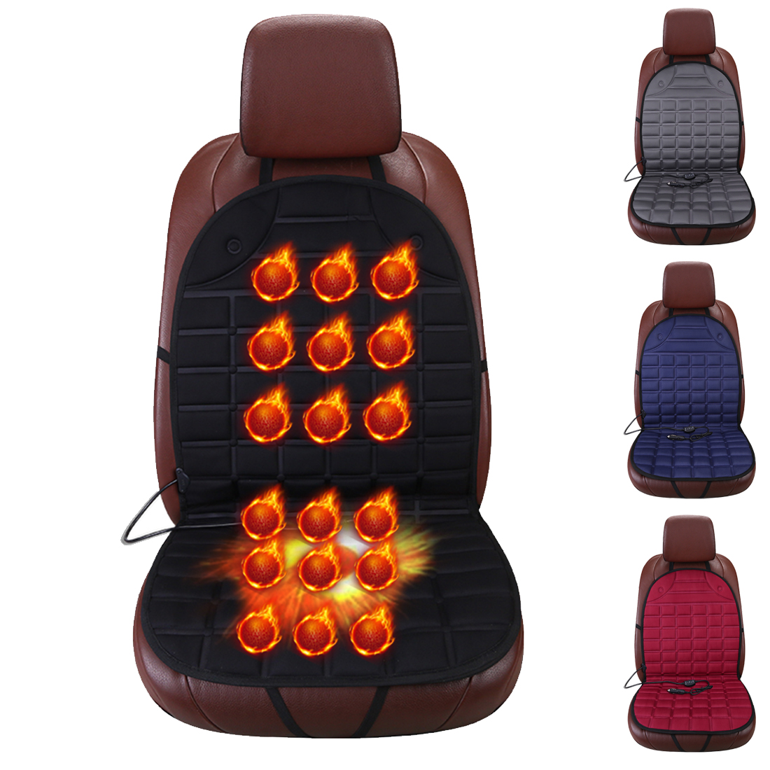 Dewtreetali New 12V Heated Car Seat Cushion Cover Seat Heater Warmer Winter Household Cardriver Heated Seat Cushion ноутбук hp 15 db0195ur amd a4 9125 2300 mhz 15 6 1920x1080 4gb 500gb hdd dvd нет amd radeon r3 wi fi bluetooth windows 10 home