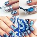 1 Лист Женщины Красоты Nail Art Маникюр Hollow Трафарет Наклейки Ногтей Штамповки DIY