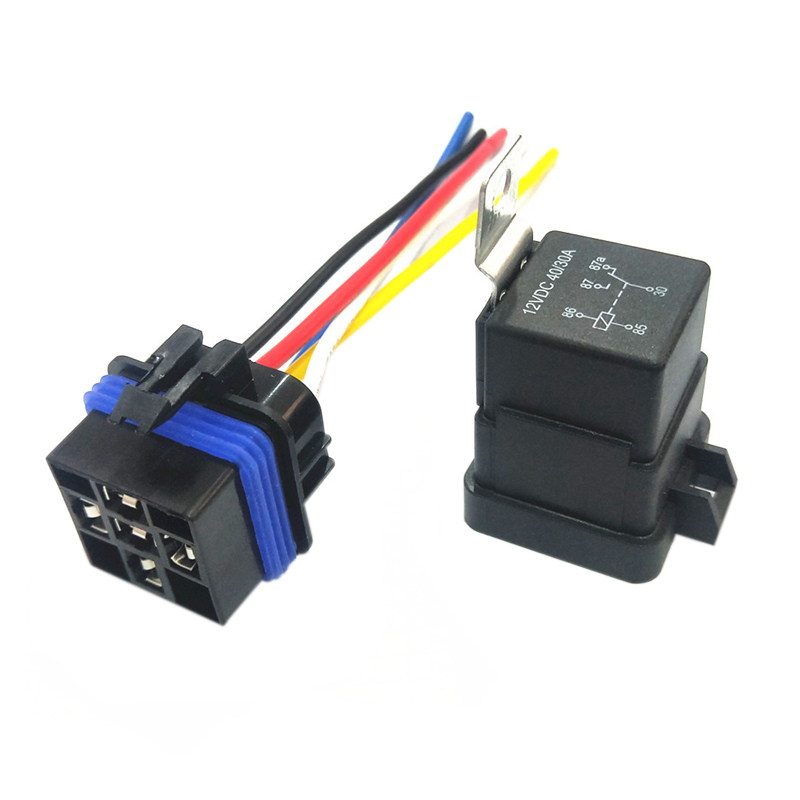 Page Features 5 Pieces 5pin 12v 40a Spdt Relay With Socket And Wiring