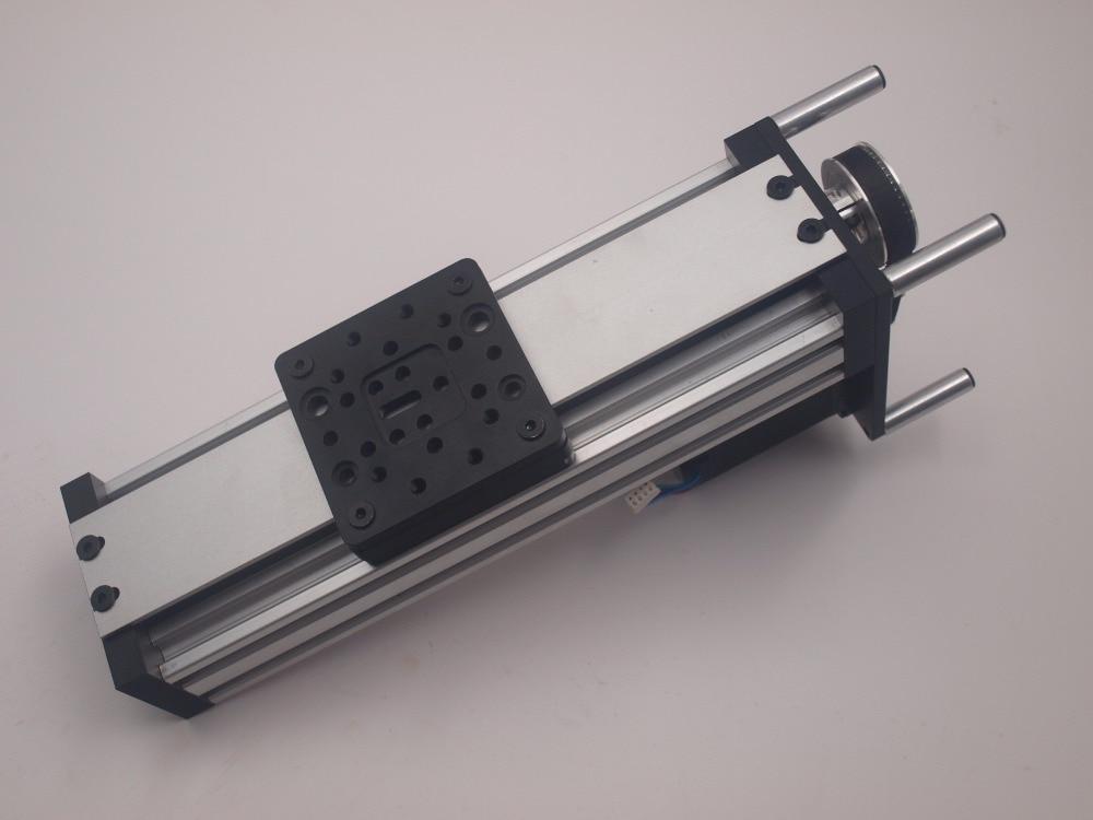 A Funssor Z Axis slide system set C-Beam High torque C-beam NEMA23 motor Belt Reduction Linear actuator kit 250/500 mm