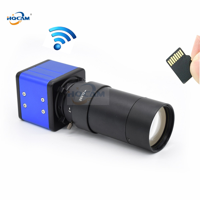 1920P 1080P CamHi אודיו מיני WIFI תיבת IP מצלמה מקורה אלחוטי אבטחה P2P Onvif CCTV TF כרטיס חריץ 5 100mm ידני זום עדשה