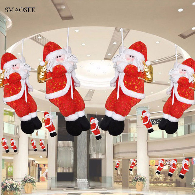 big climbing rope santa claus pendants doll 2018 christmas decorations for home pendants xmas toy party