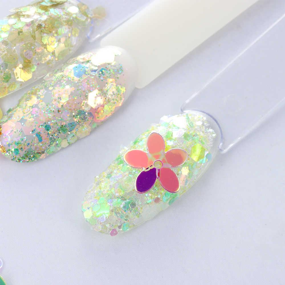 10 g/lote Paetês Fosco Cor Branca 10mm Copo Cinco Dedos Flor Lantejoulas Paillettes Costura Artesanato Casamento Mulheres Acessórios de Vestuário