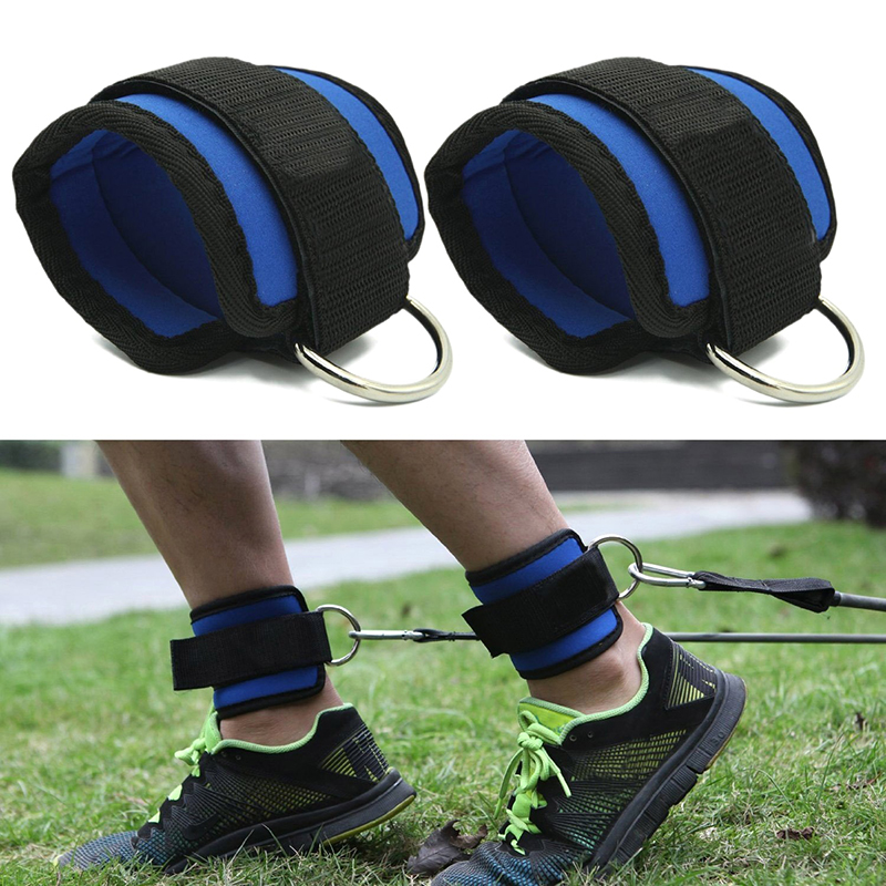 Brave Fitness Adjustable D-ring Ankle Straps Foot Support Ankle Protector Gym Leg Pullery With Buckle Sports Feet Guard Easy To Lubricate Men's Accessories