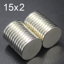 10/30/60100Pcs 15x2 Neodymium Magnet 15mm x 2mm N35 NdFeB Round Super Powerful Strong Permanent Magnetic imanes Disc 15x2 100pcs neodymium n35 dia 15mm x 2mm strong magnets 15x2 disc ndfeb rare earth for crafts models fridge sticking 15 2mm 15mm 2mm