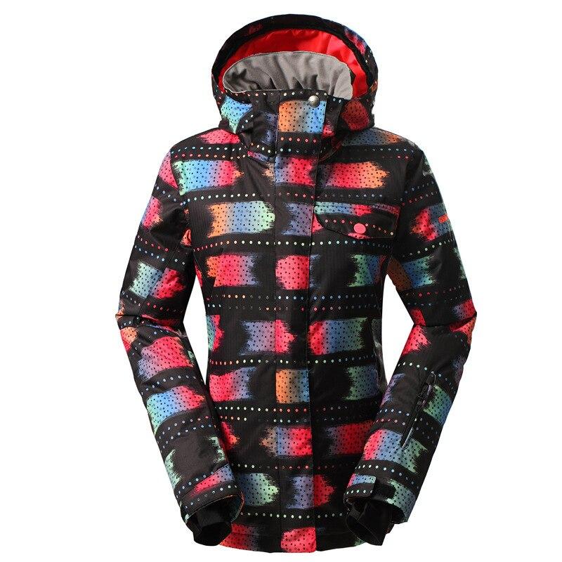 GSOU NEIGE Femelle combinaison de Ski En Plein Air D'hiver Coupe-Vent Chaud et Imperméable Simple Double Conseil de Ski Veste Manteau de Neige Pour Les Femmes Taille XS-L