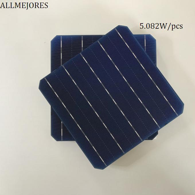 ALLMEJORES 10pcs Monocrystalline solar cells 156mm x 156mm High Effencicy 5.08W/pcs A Grade for DIY 5V 50W solar panel charger