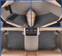 Automotriz coche tapetes alfombras pie establece esteras cojín de cuero para Cadillac CTS CT6 ATS-L DeVille Escalade SLS SRX/XTS MG3/5/6/7 MG-GT