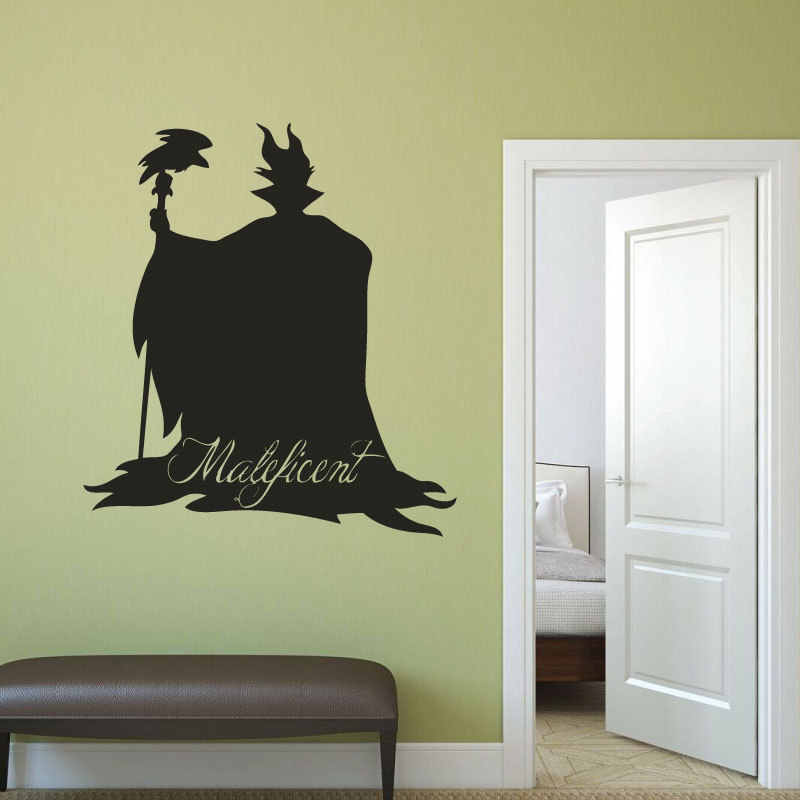 Maleficent Wall Stickers For Kids Girls Room Vinyl Art Mural ...
