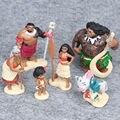 6 шт./1 лот Принцесса Моана Мауи Heihei Бабушка 6-12 см Игрушки Куклы #1897 Фигурку Brinquedo Игрушка Дети Рождественский Подарок