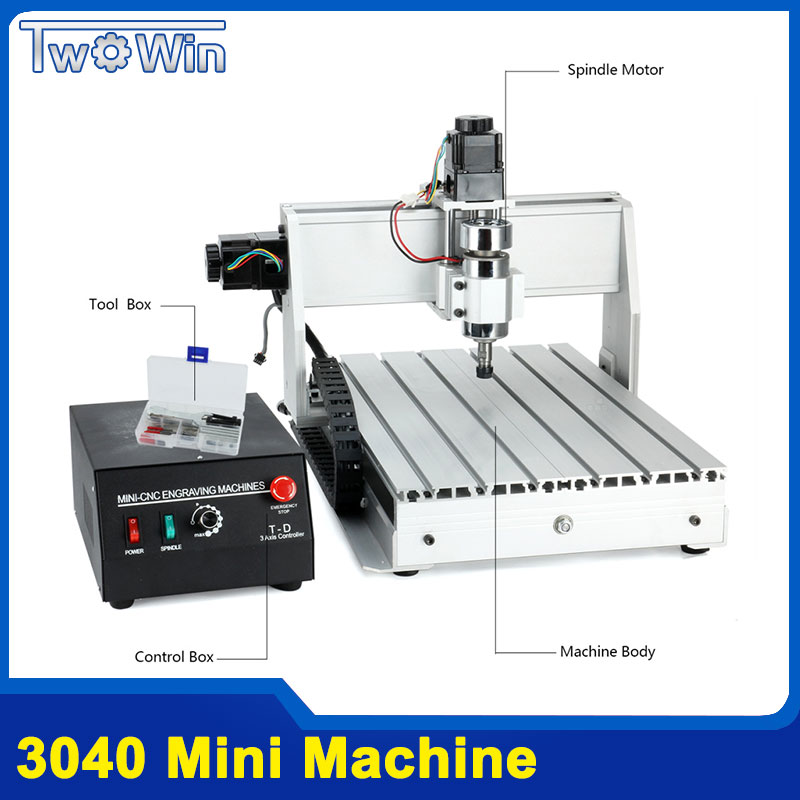 300W 3040T Mini CNC Machine 3Axis Pcb Milling Machine Wood Router cnc Router with MACH3 Control Working Area 390 x 280 x 55mm model working area 600 900mm rd 6090 mini cnc router for metal european standard
