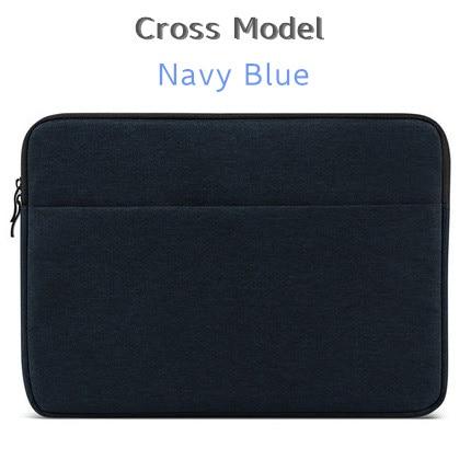 """Брендовый чехол aigreen для ноутбука 1"""", 13"""", 1"""", 15, 15,6 дюймов, сумка для Macbook Air Pro 13,3"""", 15,"""", Прямая поставка - Цвет: Cross Navy Blue"""