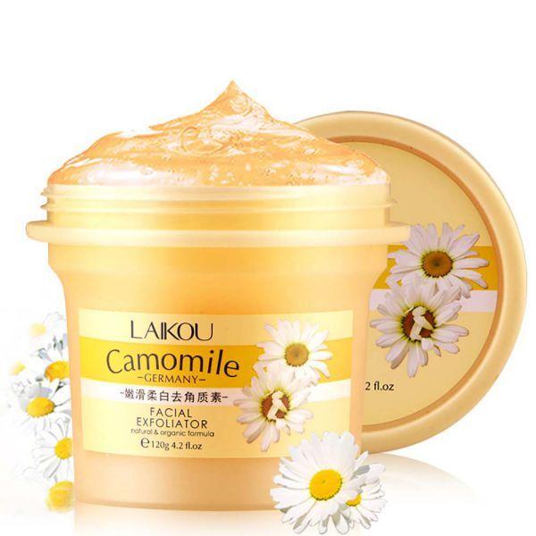 120g limpiador Facial exfoliante Facial orgánico Natural crema exfoliante blanqueadora crema Gel Facial limpieza Facial