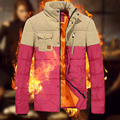 Stand collar winter down coat male casual thickening thermal cotton-padded jacket outerwear down wadded jacket male winter