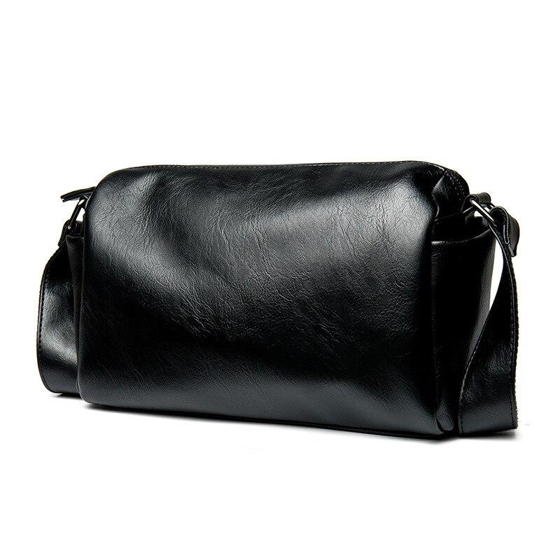Casual Envelope Messenger Bag Black Leather Crossbody for Men Shoulder Sling Waterproof fashion handbag