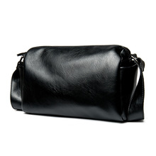 Casual Envelope Messenger Bag Black Leather Crossbody for Men Shoulder Sling Waterproof fashion handbag