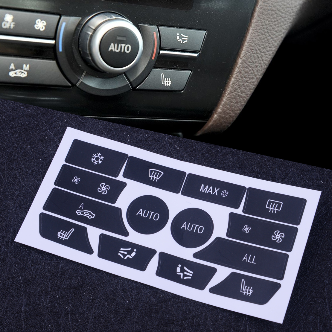 DWCX AC Dash Climate Control Panel Button Repair Sticker